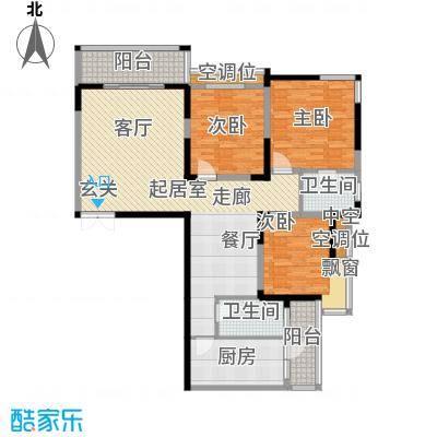 名都花园(三期)三室二厅二卫 135.65平米户型