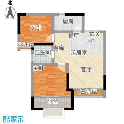 名都花园(三期)83.89㎡二房二厅一卫-83.89平方米-22套户型