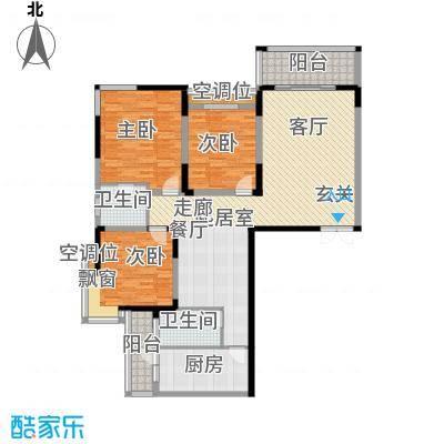 名都花园(三期)三室二厅二卫 144.06平米户型