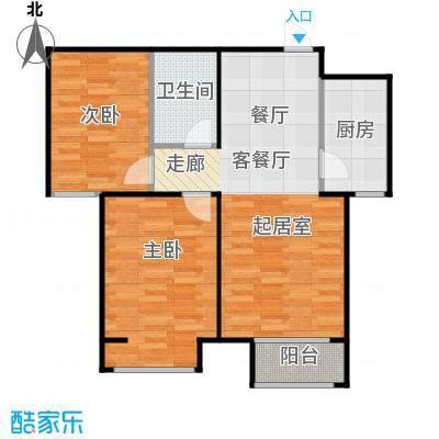 香城丽景・悦动社区E户型2室1厅1卫1厨