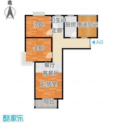 香城丽景・悦动社区A1户型2室1厅1卫1厨