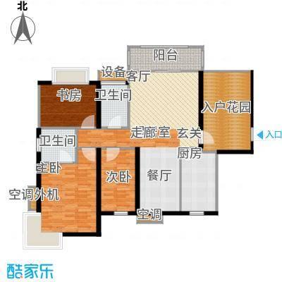 富川瑞园三房两厅两卫户型
