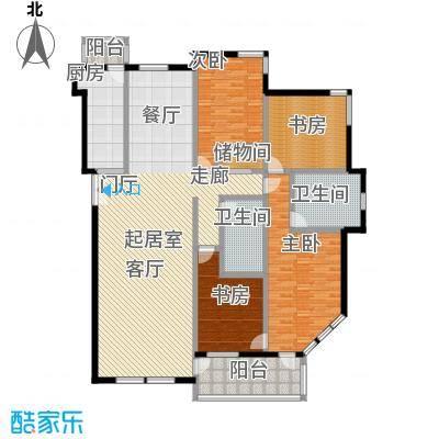 海开天秀花园二期192.36㎡四室二厅户型