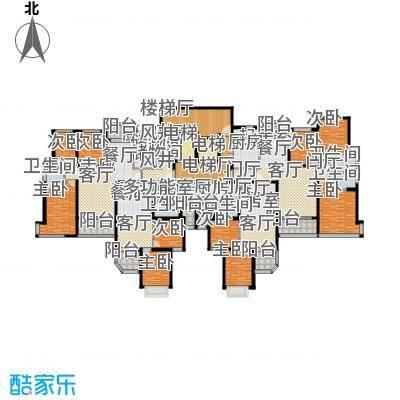 恒大山水城30号楼标准层平面图户型