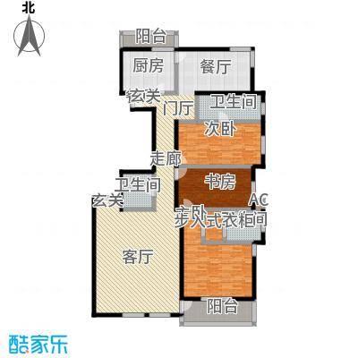 海开天秀花园二期182.88㎡二室二厅户型