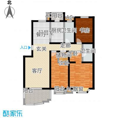 百旺家苑131.90㎡三室两厅两卫户型