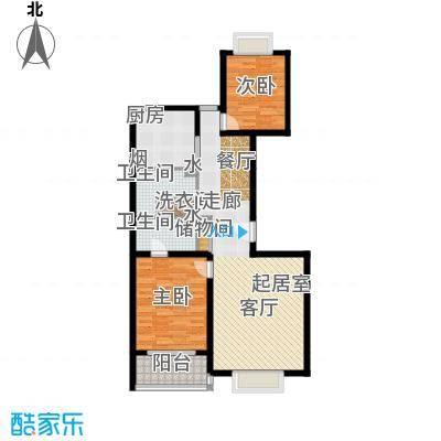 博雅德园119.00㎡1号楼二室二厅户型