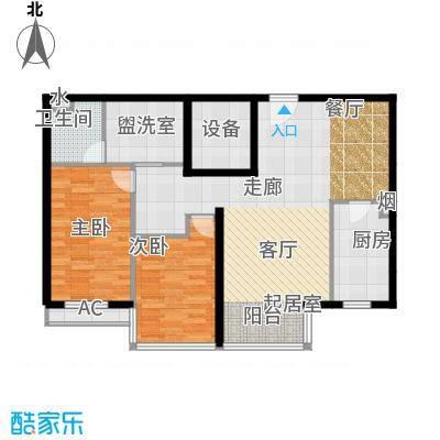 博雅德园二室二厅户型