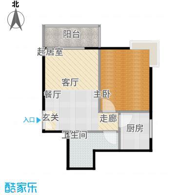 天兆家园4号楼A座01户型测量示意图户户型