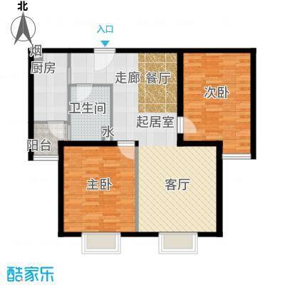 博雅德园103.56㎡两室两厅一卫户型