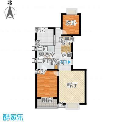 博雅德园120.45㎡两室两厅两卫 户型