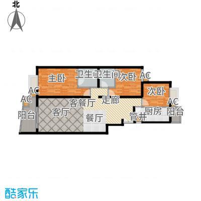 清枫华景园134.14㎡三室两厅两卫户型