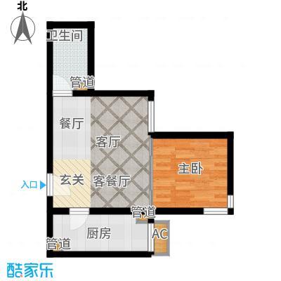 清枫华景园一室一厅户型