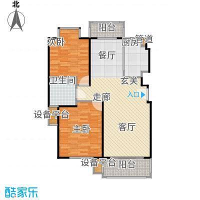 证大家园90.00㎡房型: 二房; 面积段: 90 -100 平方米; 户型