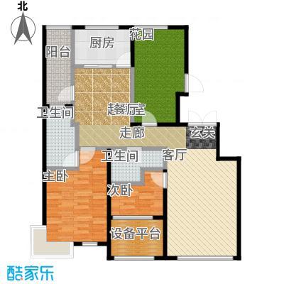 大苑・海淀名著115.92㎡A-乙户型3室2厅1卫