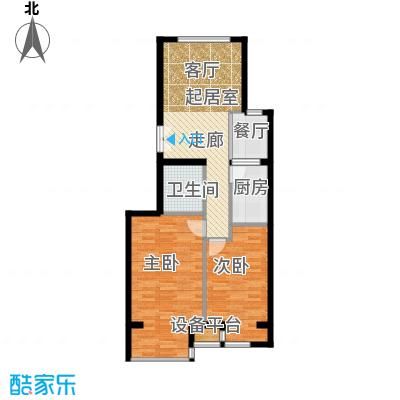 中铁置业・翰庭86.58㎡3-1-103-1103户型10室
