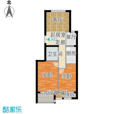 中铁置业・翰庭86.58㎡3号楼1段户型10室