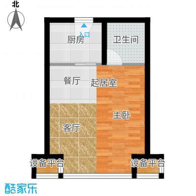 中铁置业・翰庭40.22㎡A2大一居户型10室