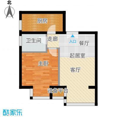 中铁置业・翰庭52.07㎡户型10室