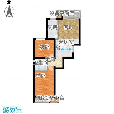中铁置业・翰庭80.40㎡3-2-301-1001户型10室