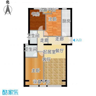 中铁置业・翰庭107.17㎡户型10室
