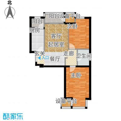 中铁置业・翰庭78.00㎡B4户型10室