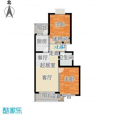 丹青府B1户型二室二厅一卫户型
