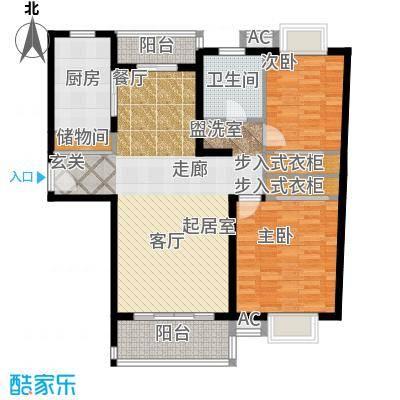 海尚佳园92.70㎡房型: 二房; 面积段: 92.7 -106.07 平方米;户型