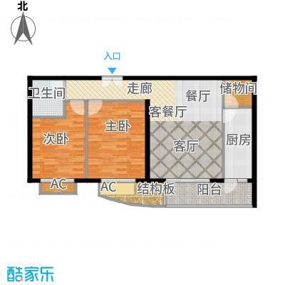 清枫华景园二室一厅户型
