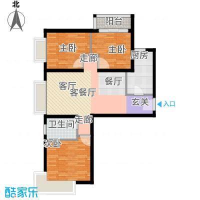 金融街・融汇106.00㎡D户型3室2厅1卫