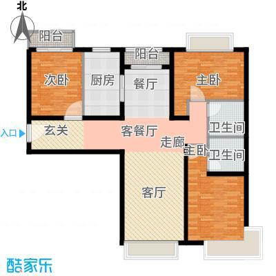 金融街・融汇117.00㎡E户型3室2厅2卫