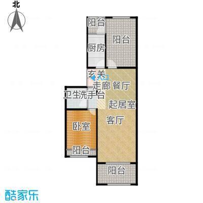 北京城建・红木林80.00㎡C4户型1室2厅1卫