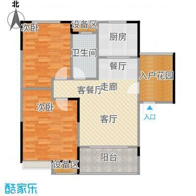 融科檀香山(ING组团)88.41㎡46#B1户型2室2厅1卫户型2室2厅1卫