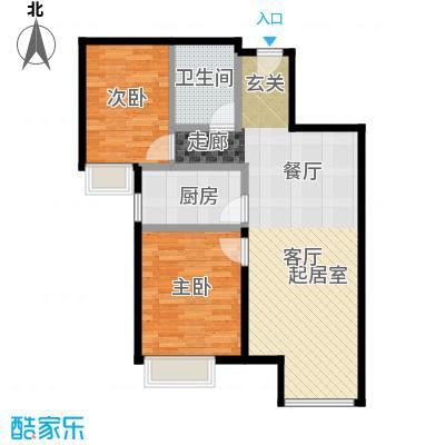 金第万科・朗润园85.00㎡C11地块户型2室2厅1卫
