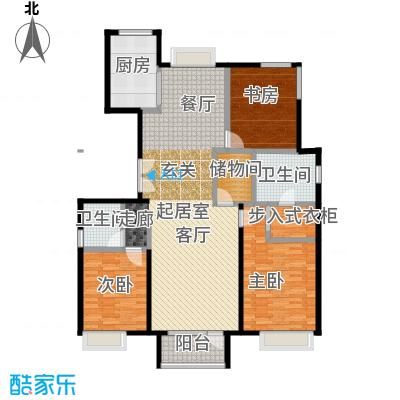 金第万科・朗润园155.00㎡B-4户型3室2厅2卫