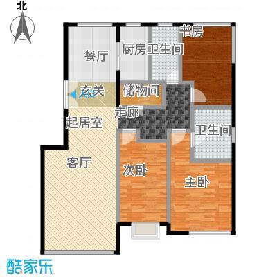金第万科・朗润园135.00㎡户型3室2厅2卫