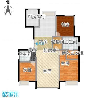 金第万科・朗润园155.00㎡C-1户型3室2厅2卫