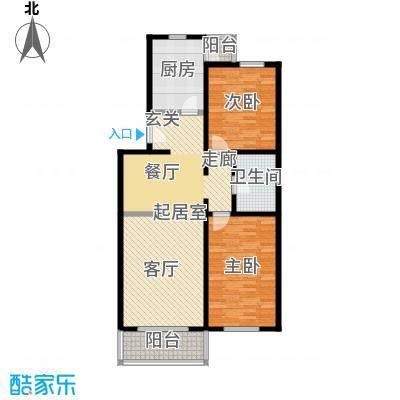 九龙家园(二期)95.20㎡两室两厅一卫户型
