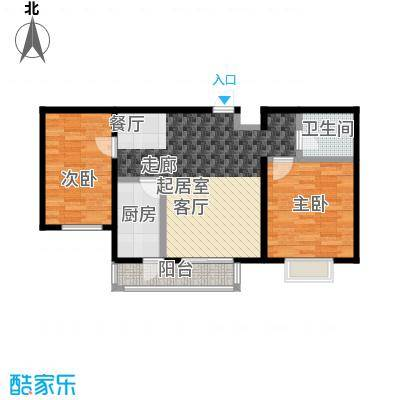 艺苑・桐城90.00㎡C2户型三室二厅一卫户型3室2厅1卫