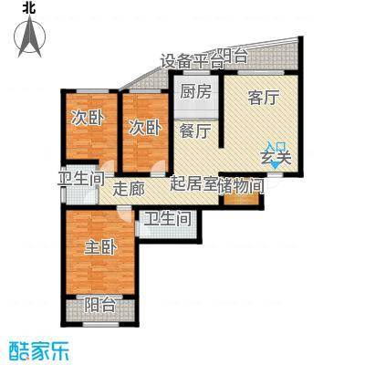兰亭书院143.20㎡12号楼A户型3室2厅2卫