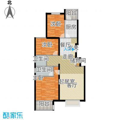 书海文园(骏城二期)133.11㎡3室2厅2卫1厨G户型