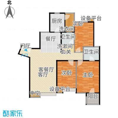 时代龙和大道143.00㎡D3户型三室二厅一厨二卫户型