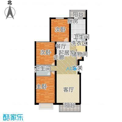 书海文园(骏城二期)139.96㎡3室2厅2卫1厨J户型