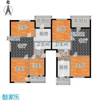 欢乐文城三期(长丰园)三室一厅一卫户型
