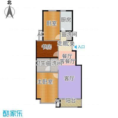 北京城建・海梓府81.30㎡F户型3室2厅1卫