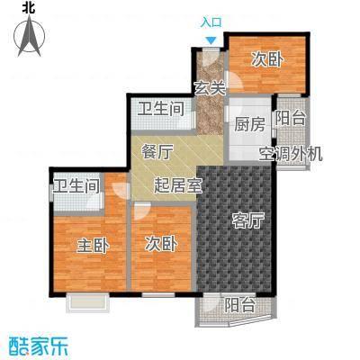 米罗公元・方丹苑Ⅱ120.00㎡三室两厅户型