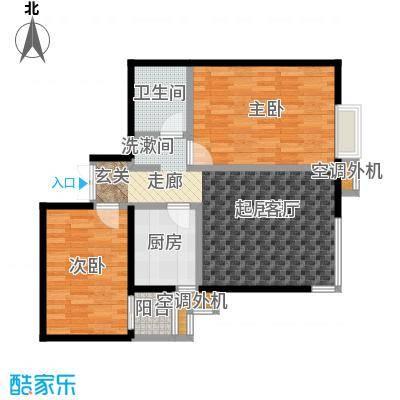 米罗公元・方丹苑Ⅱ86.30㎡2号楼B户型
