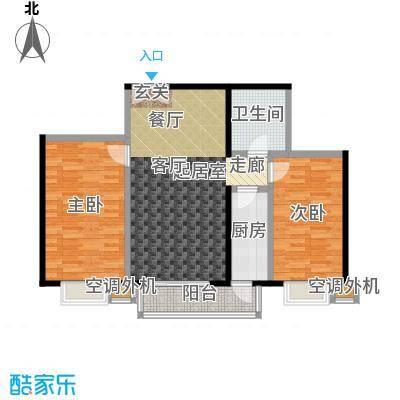 米罗公元・方丹苑Ⅱ97.20㎡2号楼F户型