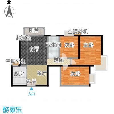 米罗公元・方丹苑Ⅱ106.75㎡3号楼A户型
