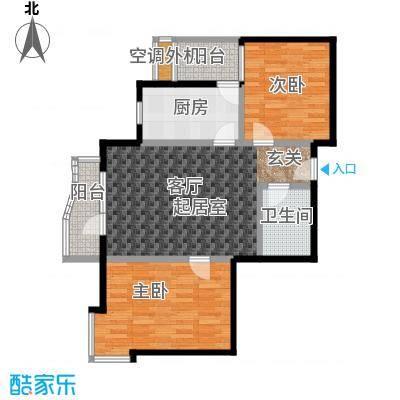 米罗公元・方丹苑Ⅱ88.00㎡两室一厅户型